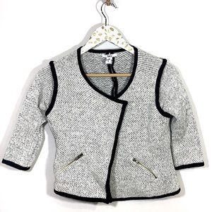 Bar III Heathered Gray Open Front Sweater Jacket